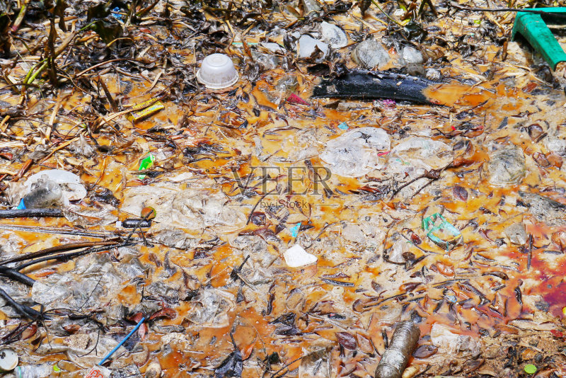 环境 材料 垃圾 凌乱 自然 小溪 河流 背景 不卫生的 湖 海滩 户外 损坏的