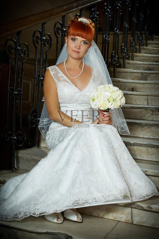 人 影棚拍摄 婚纱 非凡的 青年人 无袖上装 美人 仅青年女人 成年人
