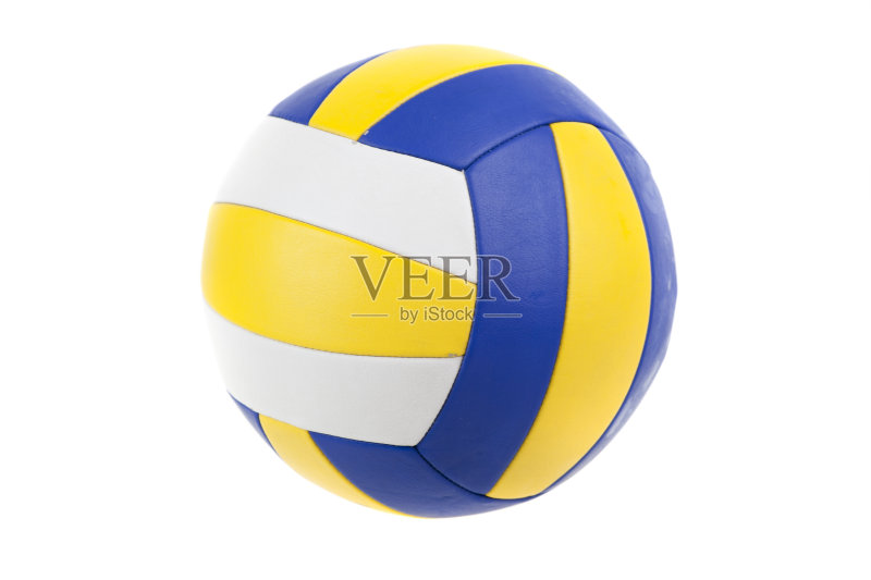色 一个物体 排球 设备用品 蓝色 乐趣 黄色 运动 截击 弯曲 球体 圆形