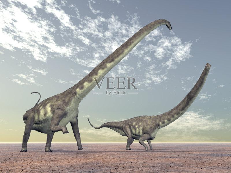 怪物 巨人 恐龙 沙漠 爬行纲 马门溪龙 自然 已灭绝生物 动物 无人 三图片