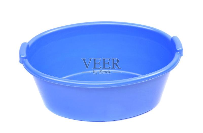 无人 水盆 洗澡盆 设备用品 塑胶 蓝色图片