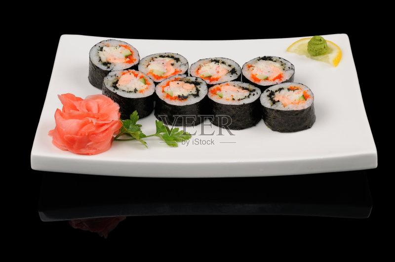 美味食品 日本料理 晚餐 美味 午餐 无人 米 开胃品 芥末酱 盘子 日本文