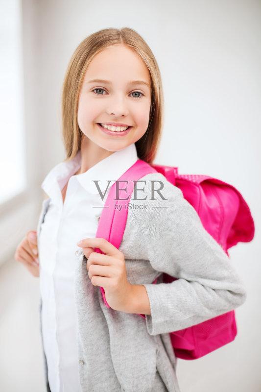 信心 女生 表现积极 微笑 童年 可爱的 儿童教育 美 学生 未成年学生