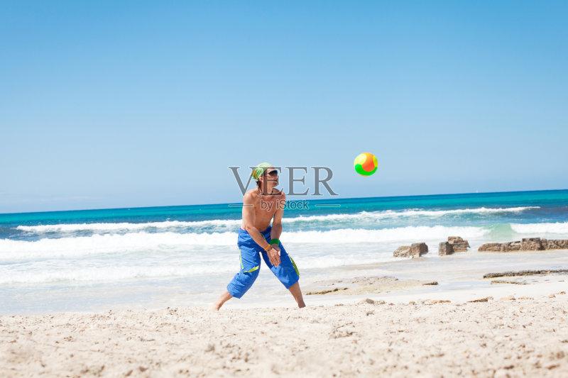 行动 活动 沙滩排球世界巡回赛 健康生活方式 夏天 乐趣 截击 蓝色
