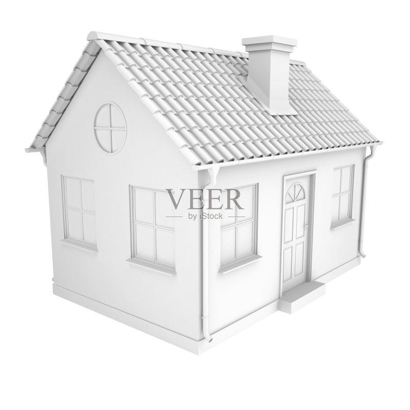 人 三维图形 模型 抵押文件 建筑外部 小的 房屋 小别墅 建筑