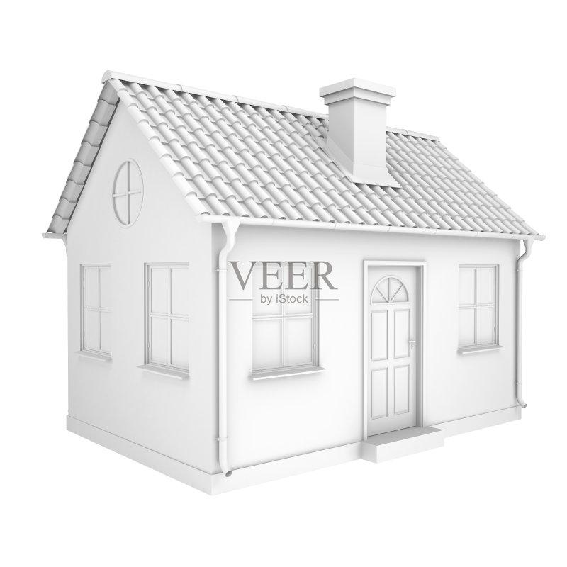人 三维图形 模型 抵押文件 建筑外部 小的 房屋 小别墅 背景 建筑