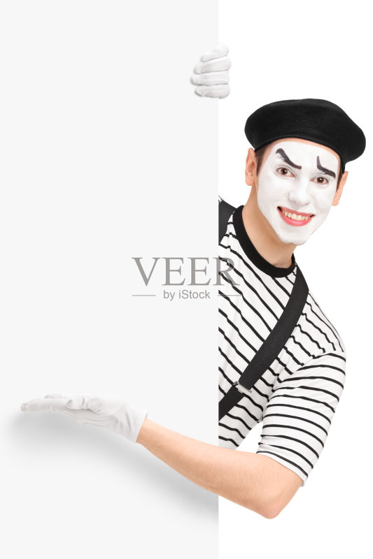 看 站 模仿 帽子 白人 情感 表演者 布告栏 英国哑剧 微笑 背景 幽默 面部