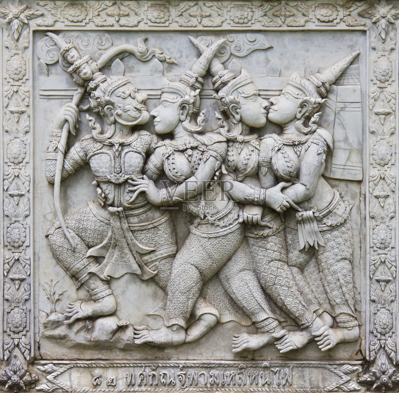摩王 宏伟 浅浮雕 印度教 背景 混凝土 手艺 美 巨人 美术工艺 工艺品 图片