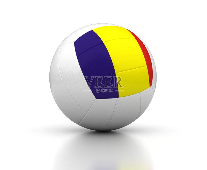 红色 式样 排球 设备用品 形状 白色背景 蓝色 运动 国内著名景点 无人