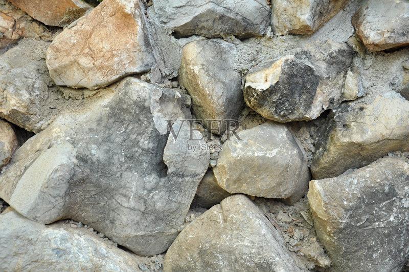 肮脏的 自然 石灰石 鹅卵石 稳定 石片 沙砾 纹理 机会 石头 背景 街道
