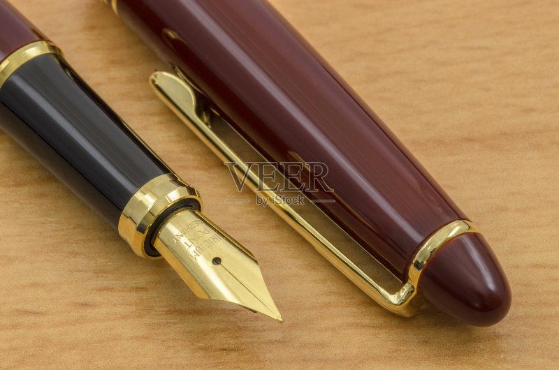 礼物 办公室 钢笔尖 通信 墨水 金色 简单 退休 文字 木制 华贵 书法 信