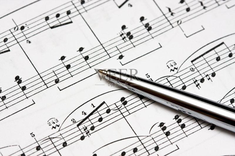 乐器 部分 乐谱 钢琴 背景 创造力 纸