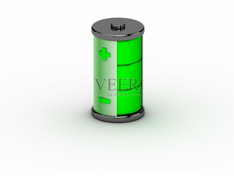 色背景 电源 圆柱体 无人 三维图形 计算机图标 电 闪亮的 空的图片