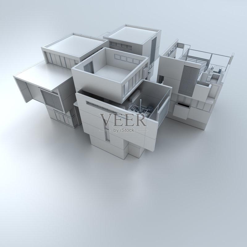 家装饰 无人 模型 计划书 居住区 建筑 建筑模型