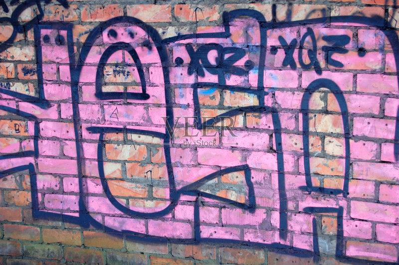 画作品 式样 涂鸦 涂鸦墙 墙 多色的 背景图片