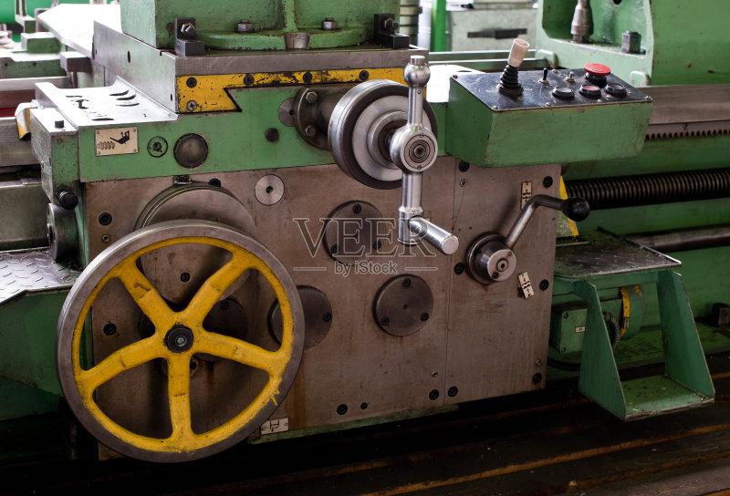 按钮 车床 转 绿色 板滑摩擦 红色 遥控器 控制杆 无人 工业 钢铁 开始按
