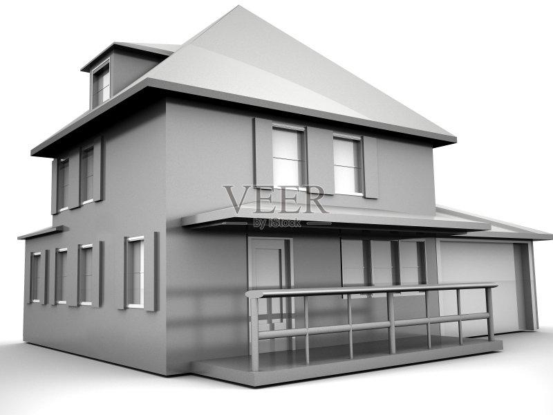 屋建设 商务 模型 计划书 家庭 居住区 窗框 建筑