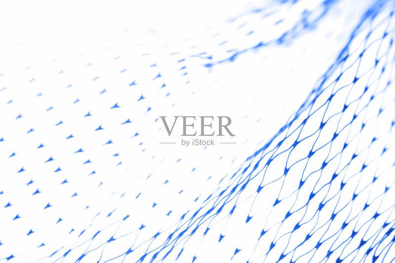 塑胶 蓝色 渔网