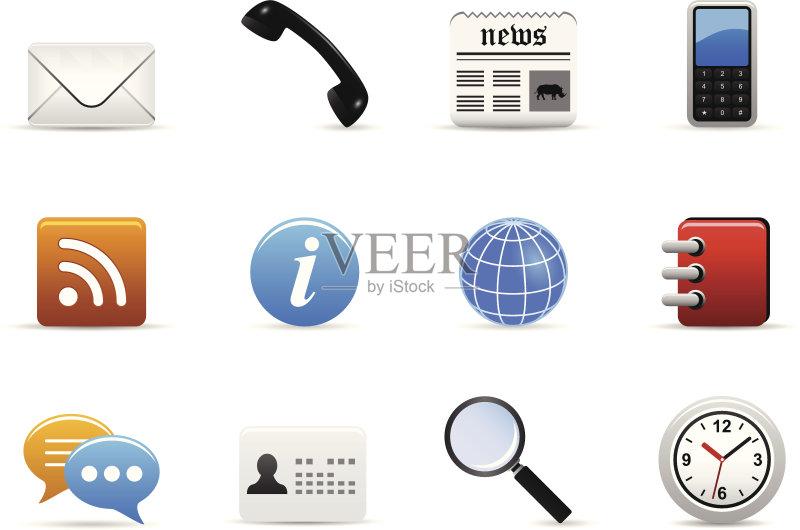 报纸 互联网 身份证 身份 电话机 地球形 钟 绘画插图 无人 操作指南