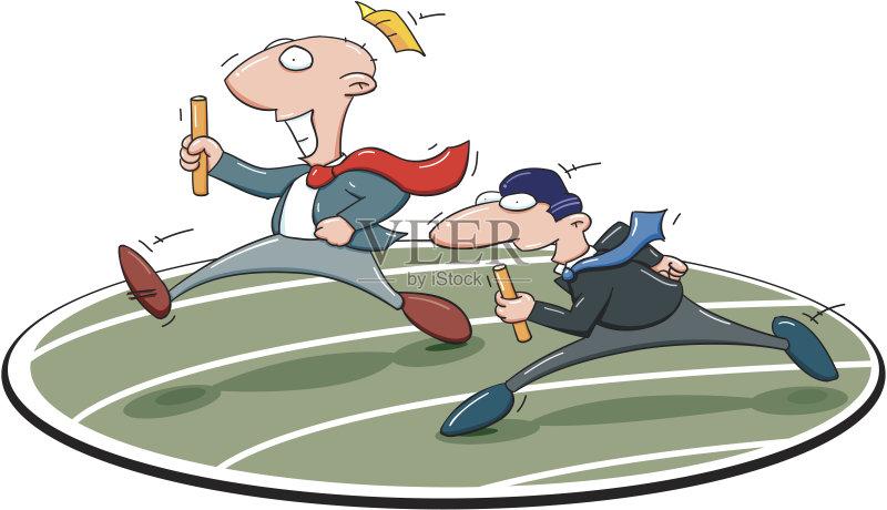 第一名 卡通 运动 迅速 着装得体 竞技运动 公司企业 团队 竞争 数字1