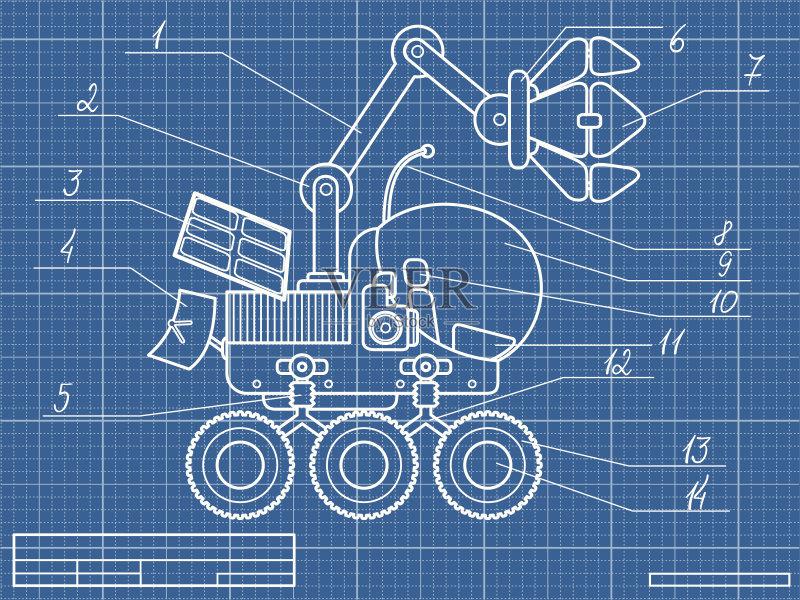 天线 做计划 蓝图 绘画插图 文档 建筑业 陆用车 探险 研究 无人 科学 技