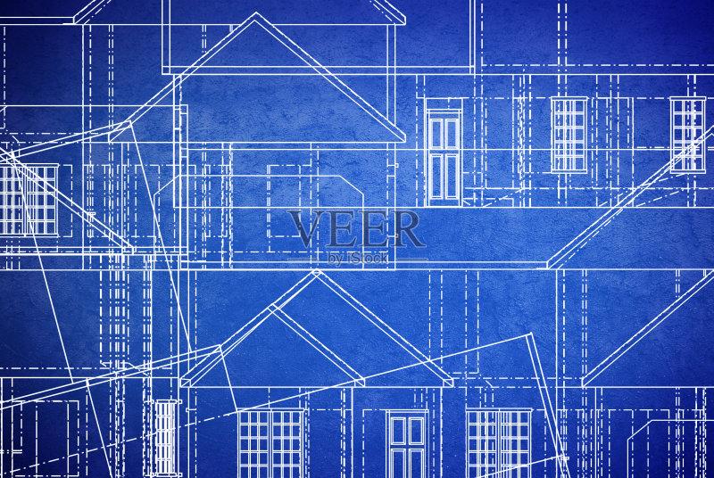 设计 蓝图 白色 成一排 建筑结构 住宅内部 文档 建筑业 式样 肮脏的 蓝