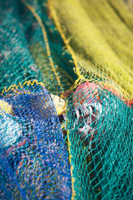 鱼网 打结 复杂性 便利 绳子 式样 设备用品 渔网 白昼 无人 缠结的 纹理