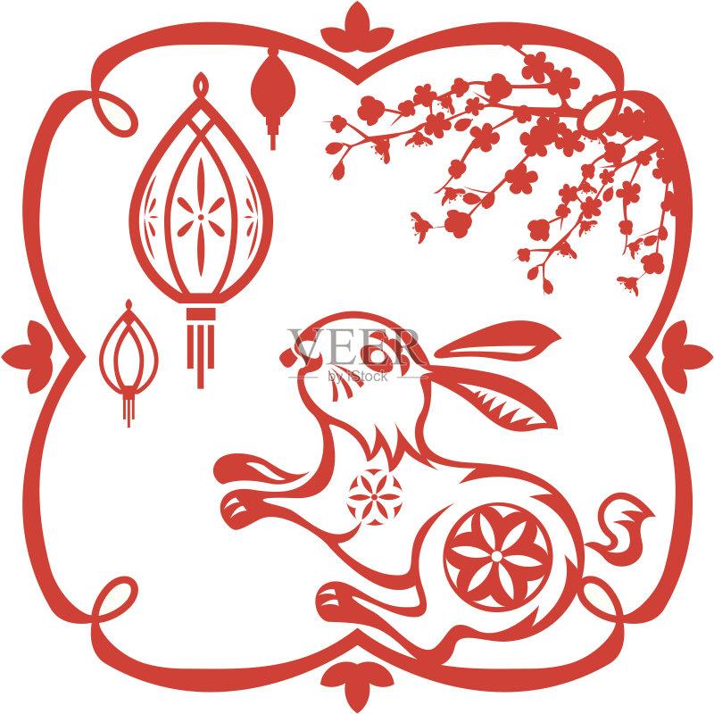 座 梅花 中国文化 传统 矢量 剪贴画 十二宫图