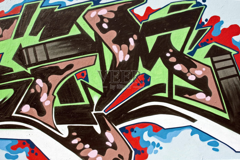 墙 绿色 喷 涂鸦 美术工艺 墙 青年文化 城市 艺术 涂鸦墙 多色的 故意图片