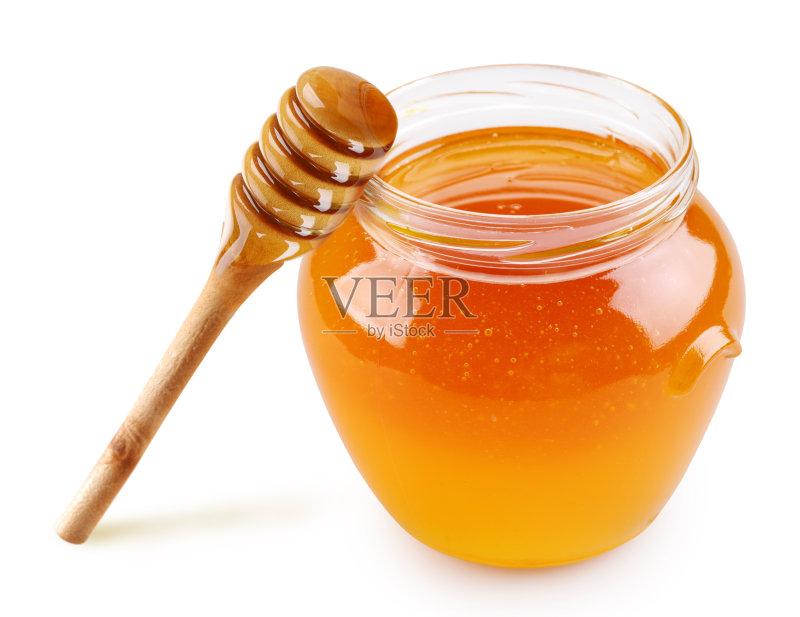 业 金色 锅 蜂蜜 汤匙图片