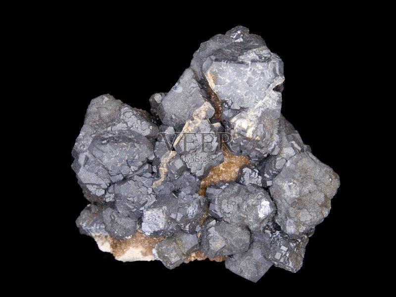 矿物质 金属矿石 灰色 银色 银 自然 无人 地质学 金属 串 方铅矿水晶 铅