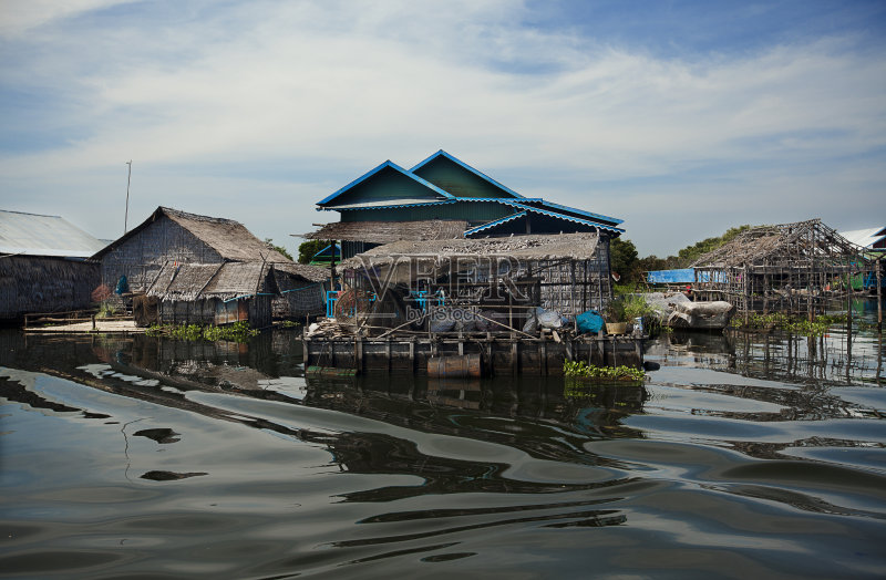 水灾 无人 暹粒 柬埔寨 水 房屋