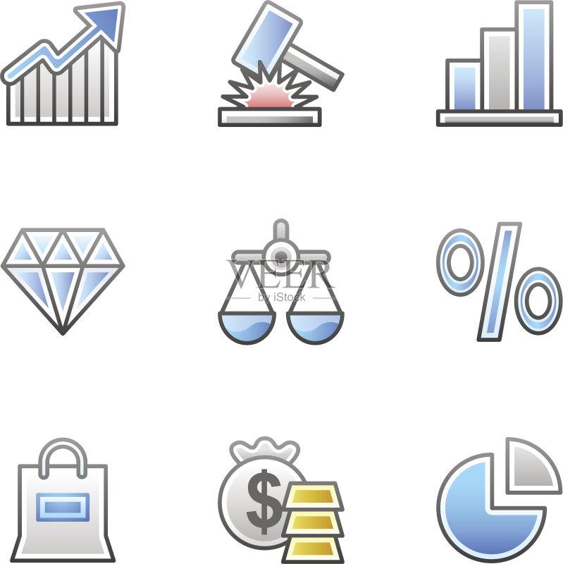 图 正义女神 图标 灰色 图标集 箭头符号 货币 网页 蓝色 图 百分比号