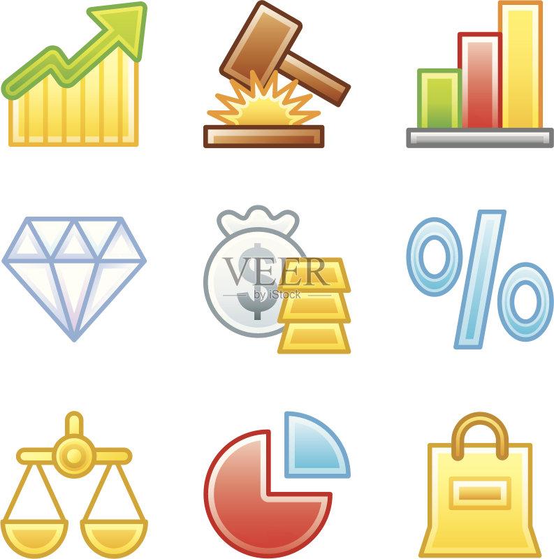 图 正义女神 图标 奖励 图标集 货币 网页 图 税 商务 力量 购物袋