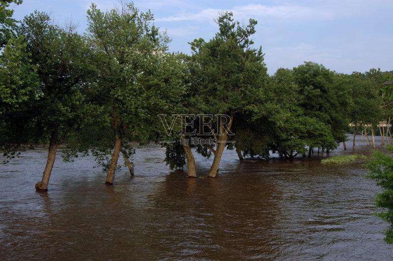 水灾 无人 自然灾害 水 全球变暖 极端天气 意外与灾害 气候