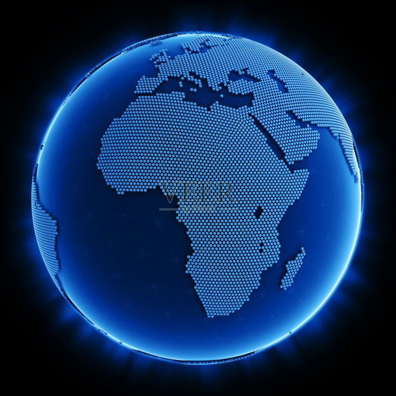 地图 行星 地球 海洋 计算机制图 球体 色彩鲜艳 地球形