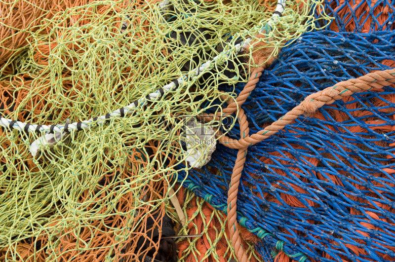无人 鱼网 钓鱼 绳子 渔网捕鱼 肯特岛 肯特 渔业 背景 渔网