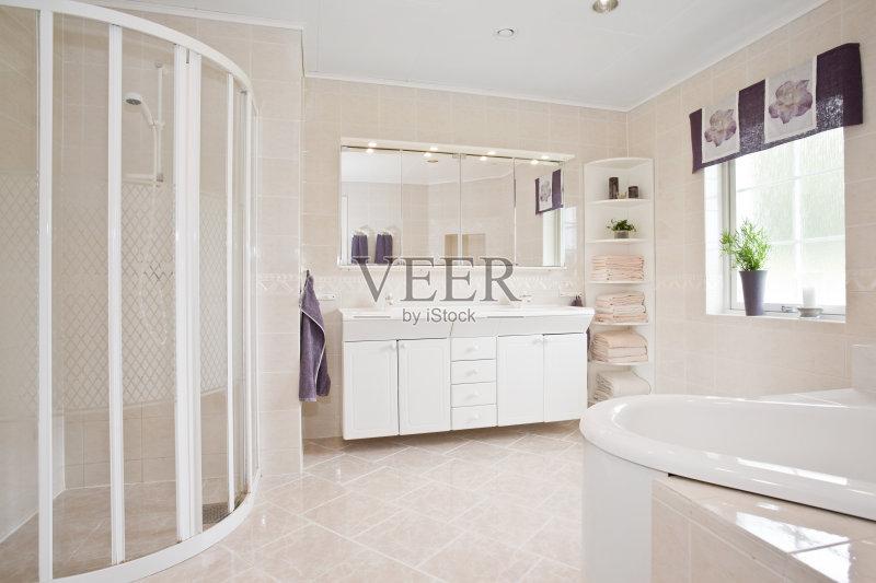 家装饰 柜子 装修 无人 家庭生活 粉色 淋浴