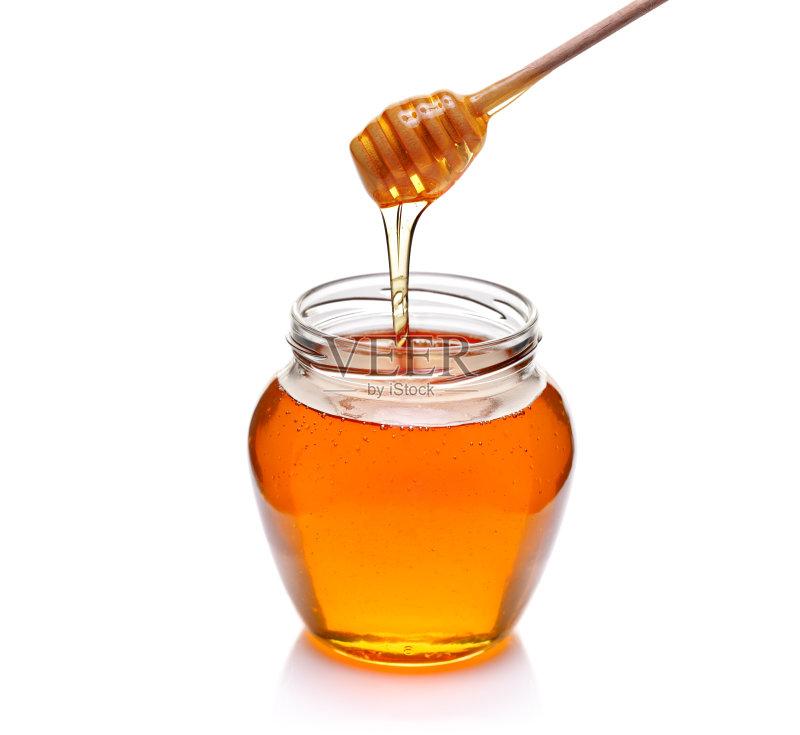 式 糖 金色 蜂蜜 饮食 木制 健康食物 早餐 有机食品 广口瓶 影棚拍摄 图片