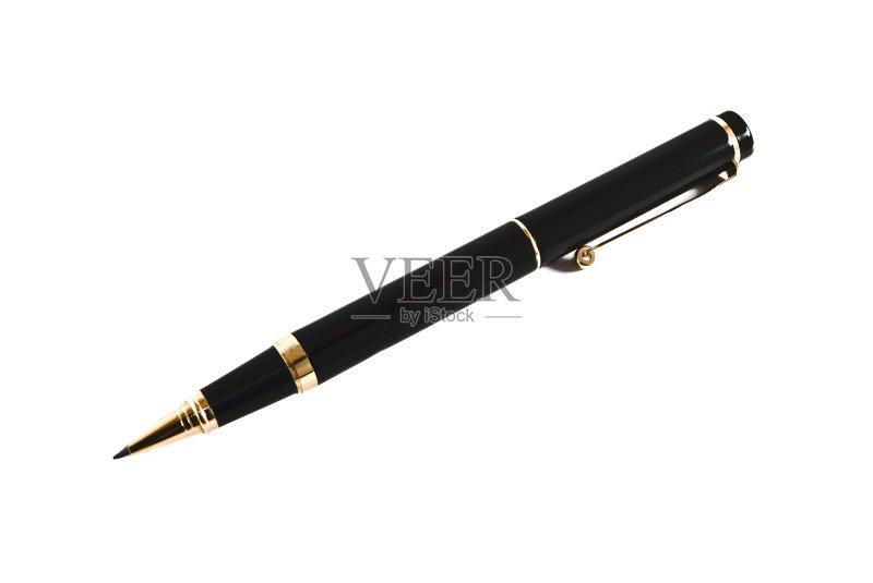 色 阴影对焦 钢笔尖 室内 写 黄金 黑色 办公室 偏远的 金属 墨水 金色