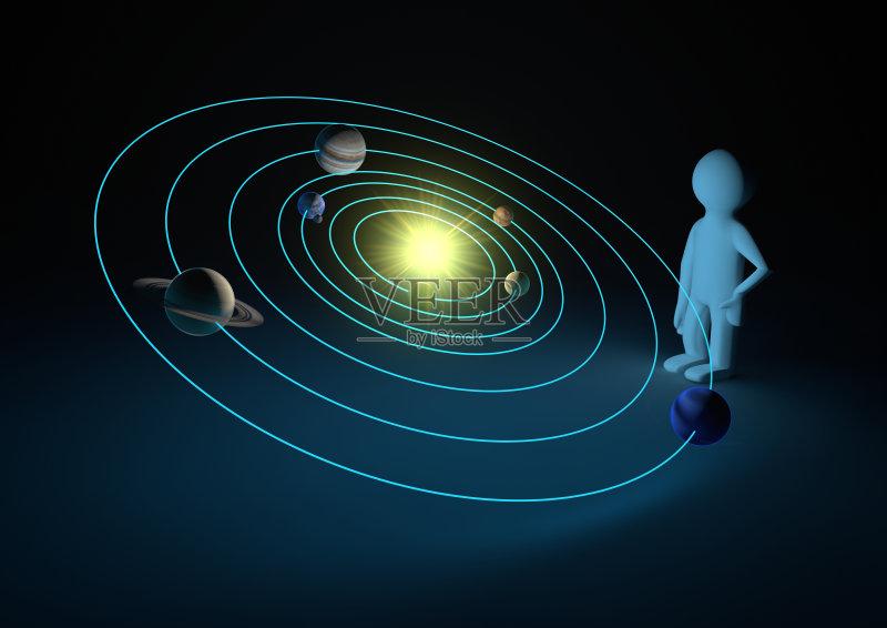 火星 木星 太阳系 形状 土星 太阳 太空 月亮 三维图形 金星 日光 行星 图片