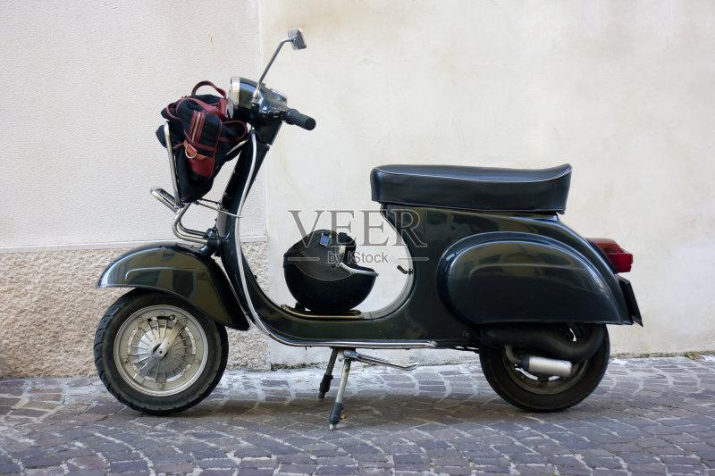 摩托车 机动脚踏车 记忆 发动机 运输 城市 古老的 1960 修复 无人 古典