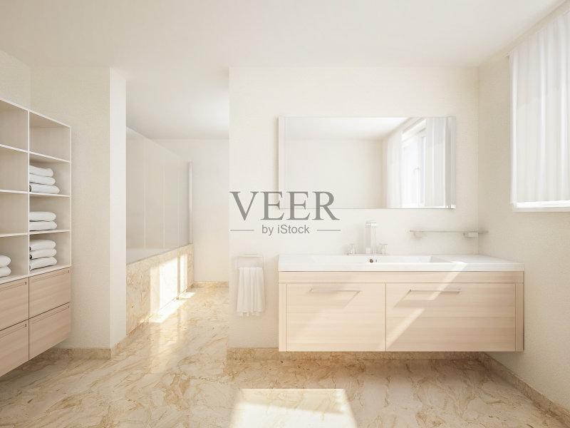 部 居家装饰 家居设施 无人 明亮 样板房 装饰 室内 淋浴 新的 曝光过度图片