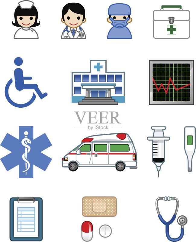 脉搏图 急救标志 胶囊 外科医生 医疗技术设备 图标集 救护车 身体检图片