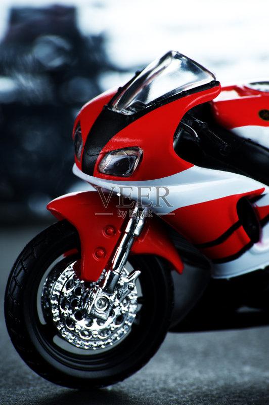 运动 摩托车 无人 三维图形 小雕像 摩托车赛 红色 小的 形状
