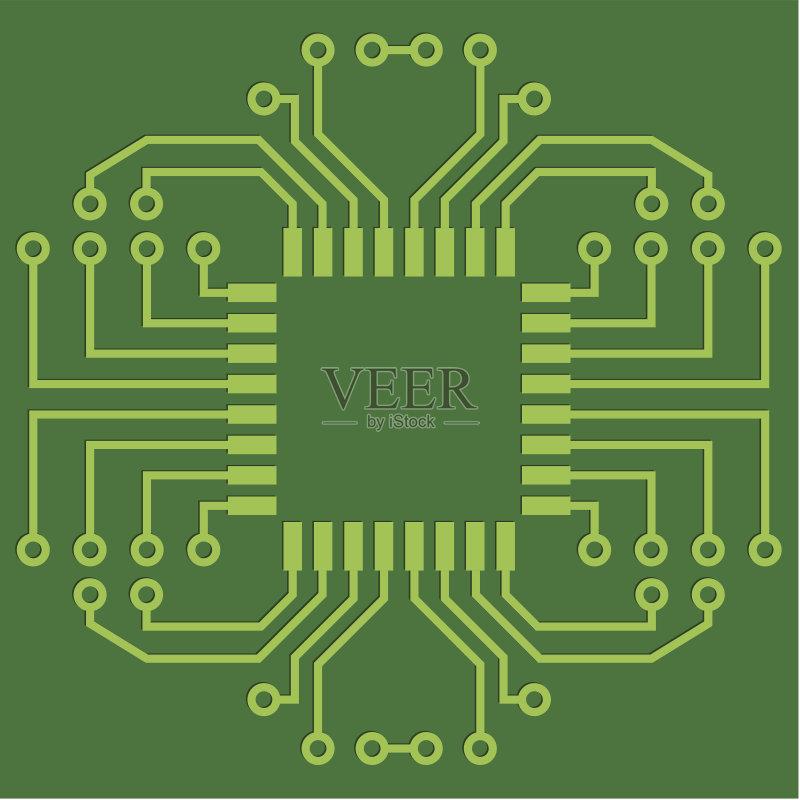 电路-设计元素 无人 做计划 设计 技术 计划书 矢量 部分 有序 形状 电子图片