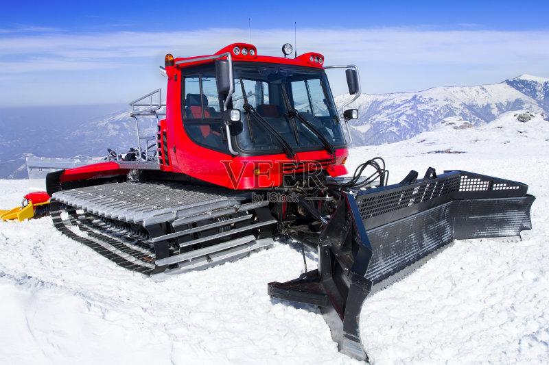 山顶 商用车 扫雪车 寒冷 雪车 户外图片