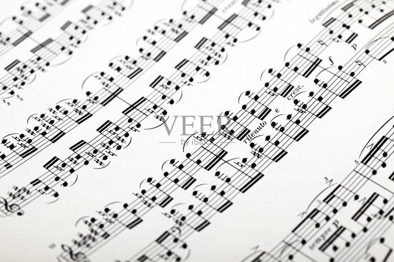 式样 符号 乐谱 无人 音乐 构图 古典乐 平坦的 纹理 纹理效果 部分 纸