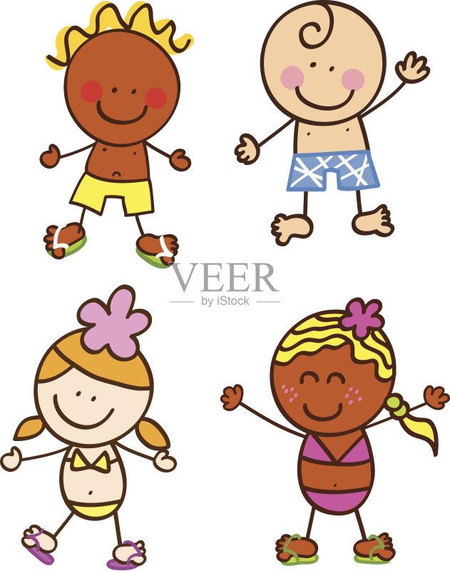儿童画-铅笔画 人 周末活动 女人 卡通 肖像 看 白人 旅游目的地 旅行 小图片