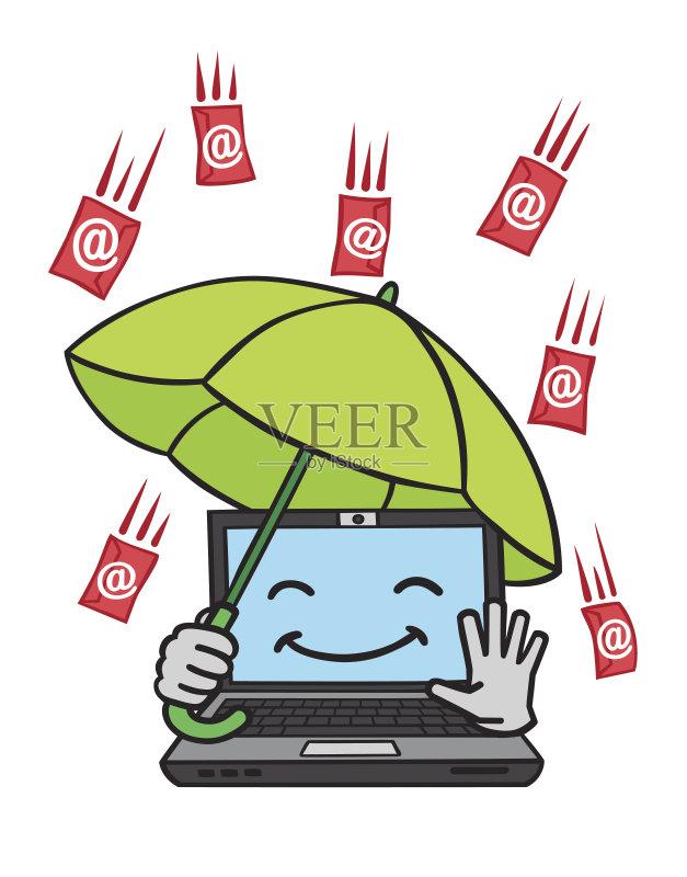 线电技术 讽刺漫画 安防系统 绘画插图 计算机病毒 卡通 杀毒软件 台图片